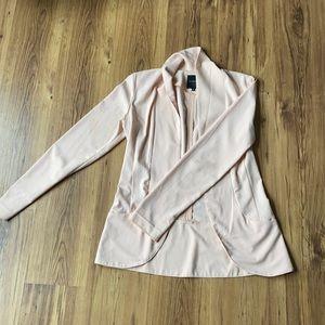 Long blush blazer